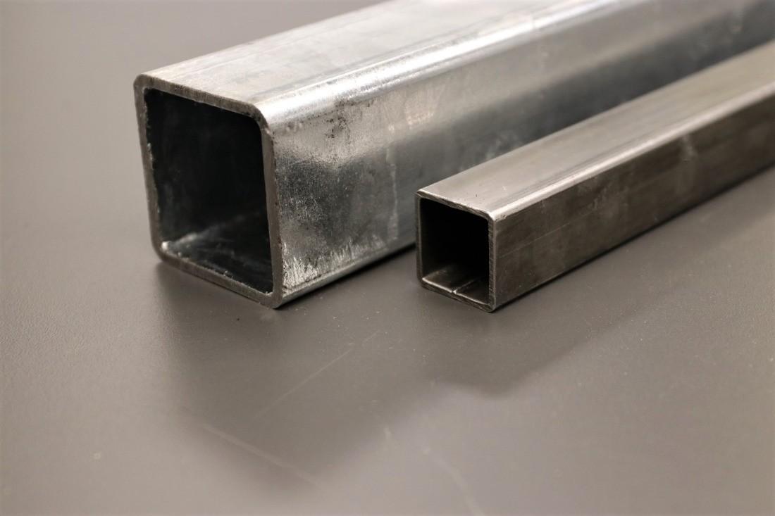 Quadratrohr Stahl verzinkt und roh