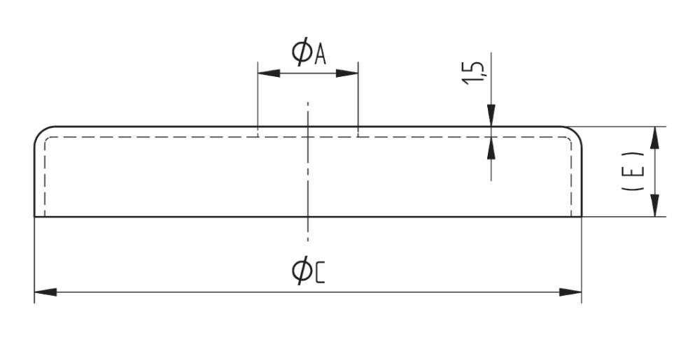 Edelstahlrosette 105 mm