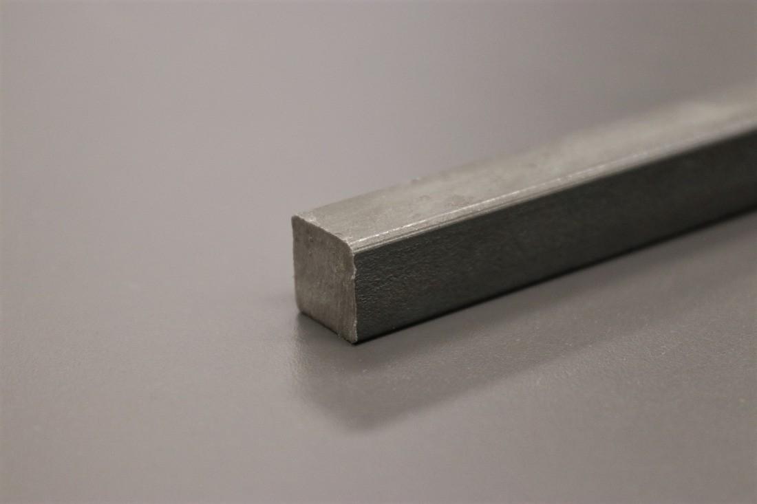 Vierkant Stahl roh