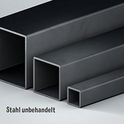 Quadratrohr Stahl unbehandelt/rohr
