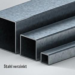 Quadratrohr Stahl verzinkt