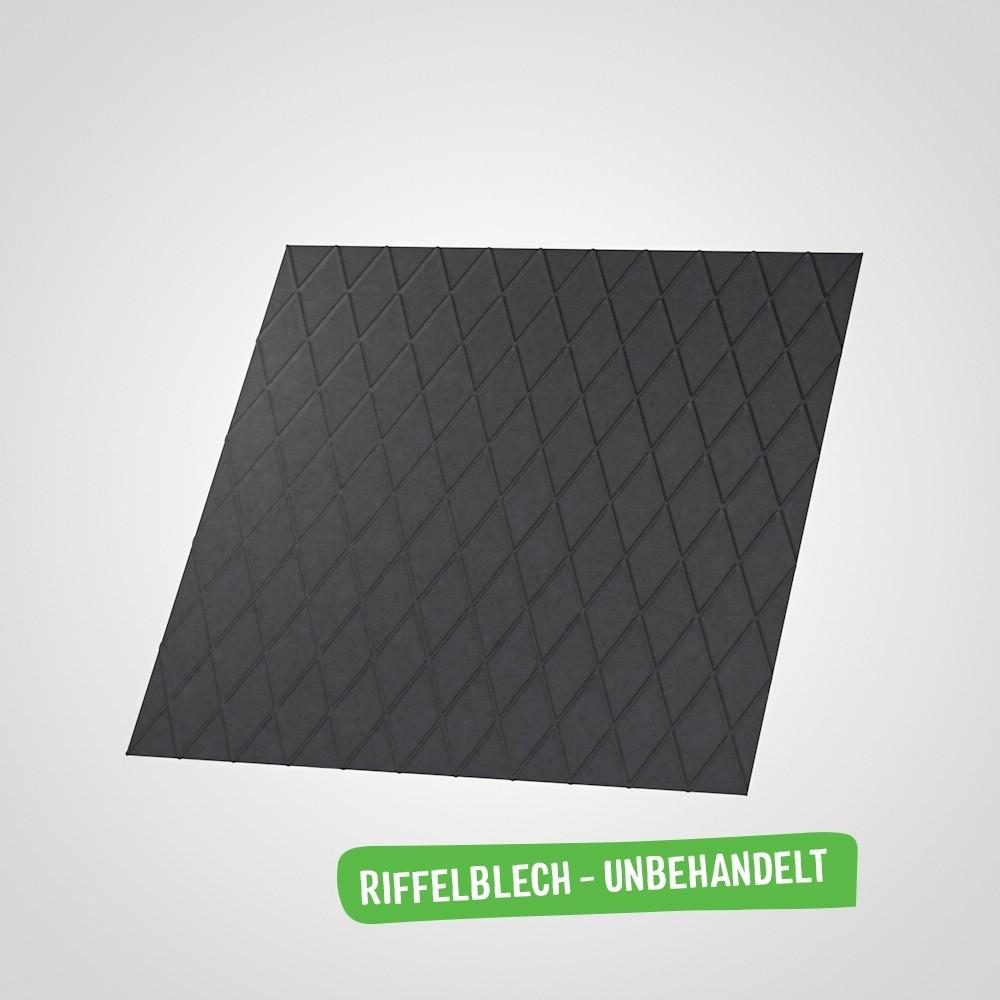Riffelblech (Stahl schwarz)