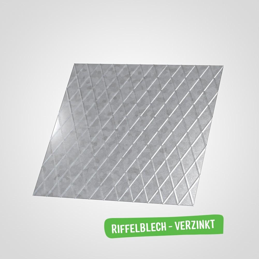 Riffelbelch (Stahl verzinkt)