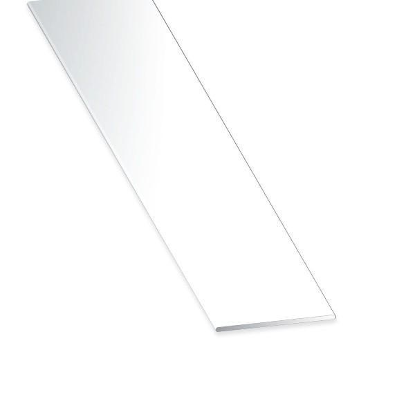 Flachstange PVC weiss 30x2x2600 mm