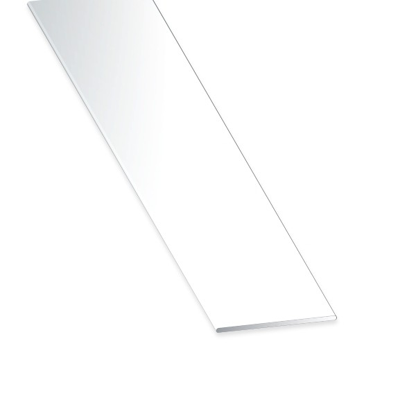 Flachstange PVC weiss 50x2x2600 mm