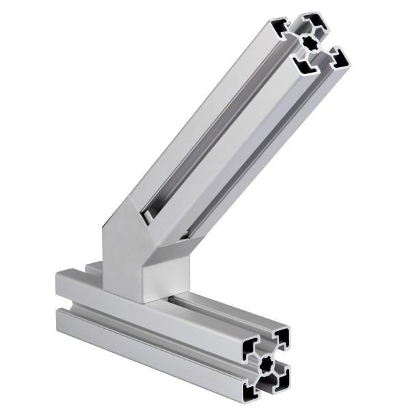 1 Stk. Verbinder 45° Nut 8  30x30 mm