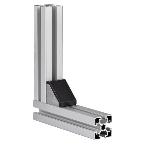 Winkel-Abdeckkappen Nut 6 mm, 20x20 mm