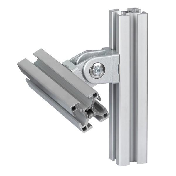 1 Stk. Gelenk Nut 10, 45x45 mm, Schwenkbereich 180°