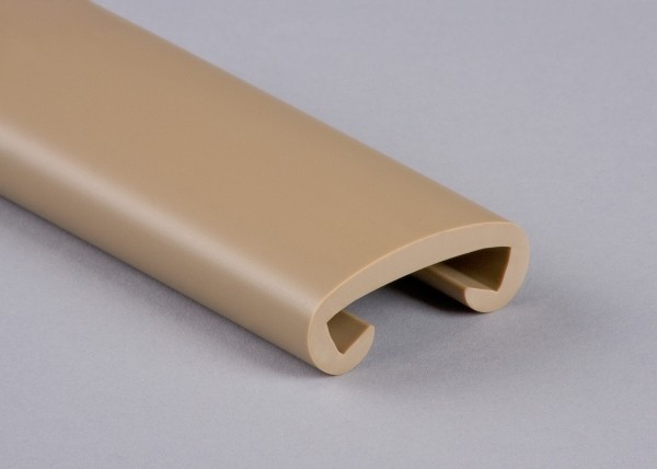 PVC Handlauf graubeige 010 für Flachstahl 40 x 8 mm