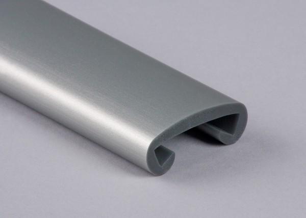 PVC Handlauf weißaluminium 011 für Flachstahl 40 x 8 mm