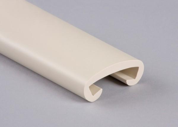 PVC Handlauf perlweiß 018 für Flachstahl 40 x 8 mm