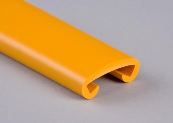 PVC Handlauf sonnengelb 023 für Flachstahl 40 x 8 mm