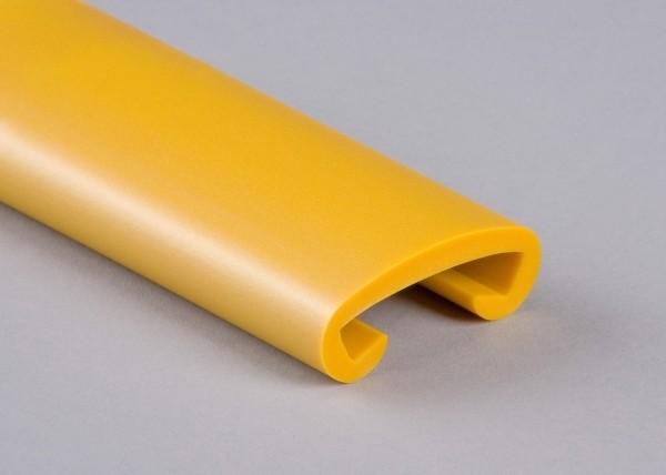 PVC Handlauf stratosgelb 514 für Flachstahl 40 x 8 mm