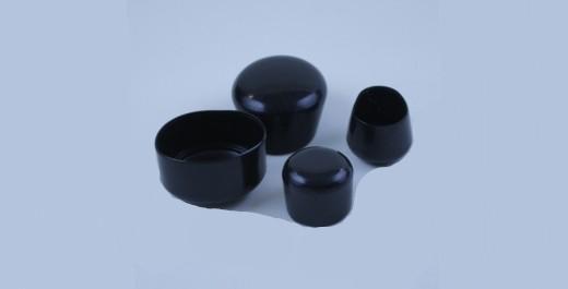 runde Kappen (schwarz)