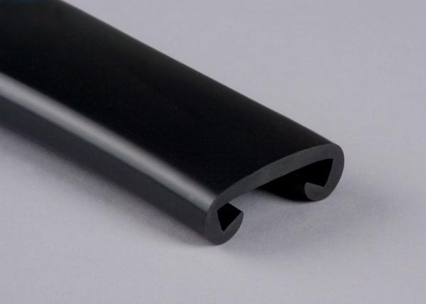 PVC Handlauf schwarz 001 für Flachstahl 40 x 8 mm