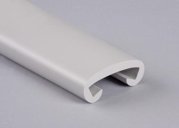 PVC Handlauf telegrau 003 für Flachstahl 40 x 8 mm