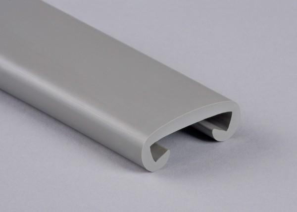 PVC Handlauf verkehrsgrau 004 für Flachstahl 40 x 8 mm