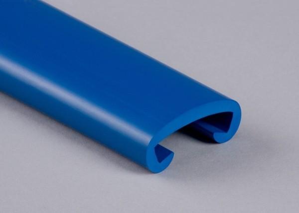 PVC Handlauf enzianblau 509 für Flachstahl 40 x 8 mm